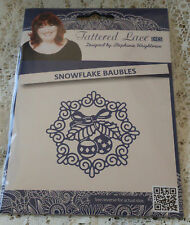 NEW RELEASE TATTERED LACE SNOWFLAKE BAUBLES DIE - CHRISTMAS 2016 DIE - D1332