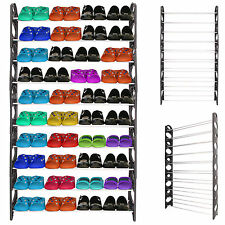 30 PAIRS 10 TIER SHELF SHOE STORAGE RACK ADJUSTABLE ORGANISER STAND CUPBOARD