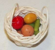 Dollhouse Miniatures Combo A Basket of Mixed Vegetables, Set 1 Food