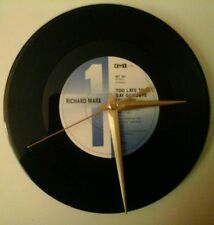 "Richard marx- too late to say goodbye  7""  record  clock  gift birthday xmas"