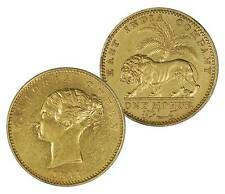 British India 1841 Victoria Gold Mohur Continous Legend in AU+