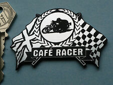 CAFE RACER Flag & Garland Style Bike Badge 65mm Triton Dunstall Tribsa Norton