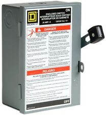 Square D 30 Amp Fusible Metallic Disconnect Protection Arcing Switching 240 Vac