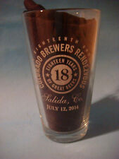 BEER Pint Glass ~ 2014 Colorado Brewers Guild 18th Rendezvous ~ Salida, COLORADO