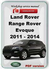 Land Rover Range Rover Evoque 2011 2012 2013 2014 Factory service repair manual