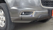 CHROME FOG LIGHT SPOT LAMP COVER TRIM FOR HOLDEN COLORADO 7 SUV 2012 2013 2014