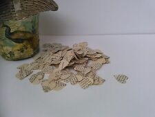 1000  Vintage rustic Heart Wedding Confetti Shabby  Paper Heart Confetti Decor