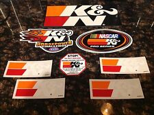 AWESOME LOT!!  8x K & N Logo OFFICIAL Decals Stickers Emblem Racing