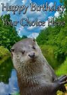 Otter All Occasions A5 Personalised Greeting Card Birthday PIDFF3 With GIFTS