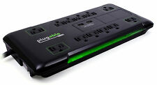 Plugable 12-Outlet AC Surge Protector w/ 2-Port USB Charger PS12-USB2