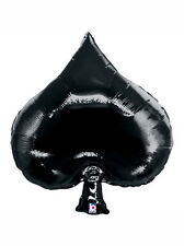 "35"" Casino Card Night Party Decoration Ace of Spades Giant Foil Balloon"