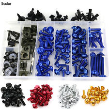 Suzuki GSX-R 600 / 750 K4 2004 2005 Complete Fairing Bolt Screws Kit Blue