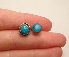 VINTAGE FUN MISMATCHED BOHO TURQUOISE NAVAJO STUD EARRINGS STERLING SILVER 925