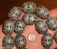 Perle Email Ethnique Metal Maroc 27mm Tribal Ethnic Tribal Bead Morocco Africa