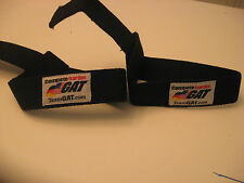 Team Gat Padded Lifting Straps 2 straps 100% cotton Black, New in Bag!!!