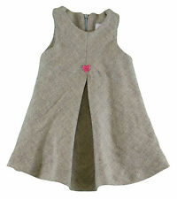 JACADI Girl's Aspic China Gray Dress With Heart Detail Age: 12 Months NWT $68