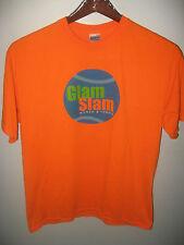 Glam Slam Womens Tennis Sports League World Class Coaching USA Orange T Shirt Lg