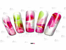 Nail Art Sticker Water Decals Transfer Flowers Red Floral (DC170)