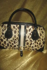 L.A.M.B. GWEN STEFANI MULTI-COLORS BROWN CANVAS HANDBAG...SUPER CUTE!!!
