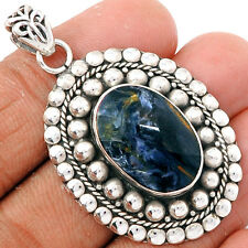 Faceted Pietersite 925 Sterling Silver Pendant Jewelry PTFP458