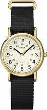"Timex T2P476, Women's ""Weekender"" Black Fabric Strap Watch, Indiglo, TP4769J"