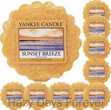 10 YANKEE CANDLE WAX TARTS Sunset Breeze NEW 2016 MELTS fresh scented