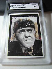 MOE HOWARD 2015 CHRONICLES OF THE THREE 3 STOOGES HALLOWEEN ART GRADED 10 A
