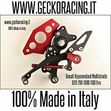 GeckoRacing | Ducati Hypermotard Multistrada Rearsets Estriberas | Made in Italy
