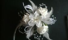 WRIST CORSAGE PROM WEDDING x 2 Black roses *special order*