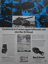 5/1982 PUB BARR & STROUD VISEE CHAR TANK CAMERA THERMIQUE CONDUITE TIR FRENCH AD