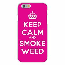Keep Calm and Smoke Weed Crown FITS iPhone 6+ Plastic Snap On Case Cover New