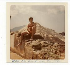 Vintage Photo Handsome Young Man Rio Brazil 1970's Oct16 b