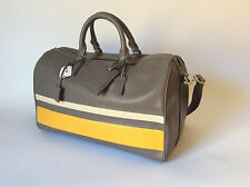 NWT COACH LEATHER BLEECKER DEBOSSED STRIPE BOSTON DUFFLE BAG OVERNIGHT OVERHEAD