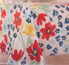 Food Network Market Garden Floral Fabric Tablecloth 52 in. x 70 in. Oblong NEW