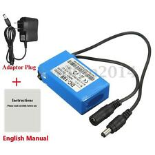 DC-168 Durable Rechargeable Portable Li-ion Battery 12V 1800mAh +US Plug Charger