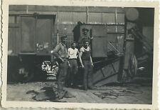 PHOTO ANCIENNE - VINTAGE SNAPSHOT - MÉTIER TRAVAIL USINE OUVRIER TRAIN - WORK