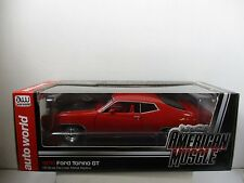 1/18 AUTO WORLD AMERICAN MUSCLE 1970 RED FORD TORINO GT