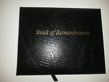 Top Quality Black Leather Book Of Condolence or Remembrance - handmade in the UK