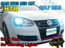 GOLF MK5 V H7R HID XENON CONVERSION KIT CANBUS NO ERROR FREE 6000k 8000k 10k 43k