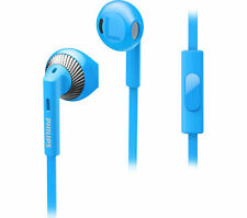 Philips SHE3205 Wired Headset With Mic Sky Blue +3 Months Seller Warranty