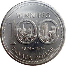 CANADA 1974 ONE DOLLAR COIN COMMEMORATING 100 YRS CITY OF WINNIPEG
