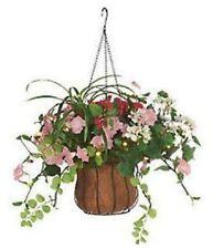 Lighted Mix Flower Hanging Basket 25 LED Lights Build in Timer Impatiens NEW