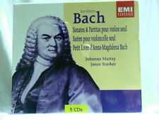J S BACH Violin Cello Sonatas Johanna Martzy Janos Starker SEALED 5 CD box set