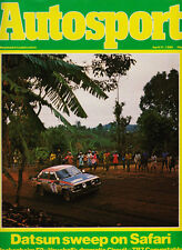Autosport 17 Apr 1980 - Datsun Safari Rally, Triumph TR7, Lancia Stratos,  Petty