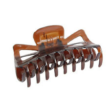 New Practical Durable Woman Brown Plastic Bath Hairclip Hair Clamp Claw Barrette