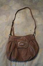 B MAKOWSKY Taupe Grey Crossbody Leather Purse Bag, GUC