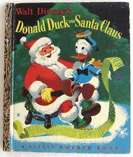 DONALD DUCK and SANTA CLAUS Little Golden Book 1st Edition Walt Disney