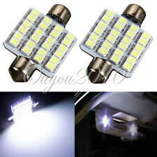 2 X BOMBILLAS LED COCHE FESTOON C5W 39MM 24 SMD LED MATRICULA INTERIOR BLANCO