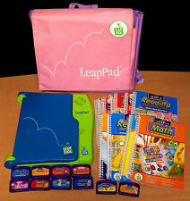 LeapFrog LeapPad System with Pink Backpack, 11 Books & 10 Cartridges - VGC