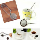 Stainless Steel Spoon Tea Leaves Mesh Ball Infuser Filter Squeeze Strainer